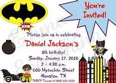 Batty Birthday Party Invitations