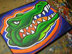 Flroida Gators painting sports art college football by crockerart