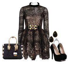 """""""Engagement Pary 1#"""" by blueninjachick ❤ liked on Polyvore featuring Alexis, Natasha and MCM"""