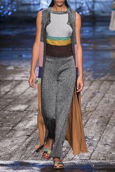 Missoni - Cropped Metallic Knitted Straight-leg Pants - Silver - IT42