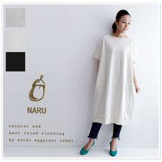【NARU ナル】ミニ 裏毛 半袖 ワンピース (624021)