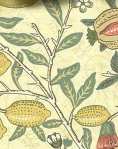 William Morris 'Fruit Major' fabric for kitchen romans
