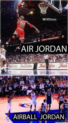 Air Jordan vs. Airball Jordan! - http://nbafunnymeme.com/air-jordan-vs-airball-jordan/