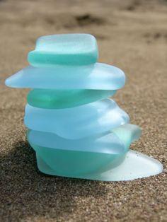 Glass Beach, California.  I always pick up sea glass when I find it on the beach.  It's so pretty.