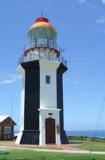 This lighthouse is situated 25 km east of Port Alfred. In days gone by the lighthouse keeper had to wind up weights and as they descended d. Lighthouse Lighting, Lighthouse Pictures, Places Around The World, Around The Worlds, Saint Mathieu, Lighthouse Keeper, Beacon Of Light, Interesting Buildings, Light Of The World