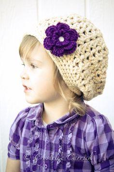 Girls 100% ORGANIC Cotton Slouchy Beanie - Toddler Child Preteen. $30.00, via Etsy.