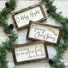 """It's the Most Wonderful Time Christmas Mini Framed Wood Sign 12.5x7"""""""
