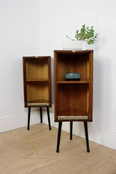 Stunning Pair of Retro Cabinets | Vintage Lamp Side Tables | Plant Stands in Antiques, Antique Furniture, Cabinets