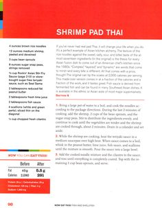 The recipe for Shrimp Pad Thai (Rocco DiSpirito)!