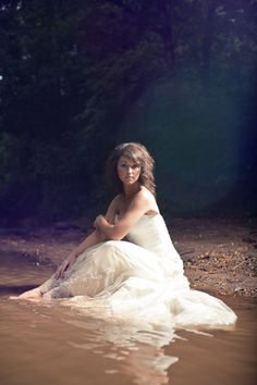 """I love """"Trash the Dress"""". Don't worry, these are rarely the actual dresses. Most brides but a trashable dress from a thrift store for this type of photo shoot."""