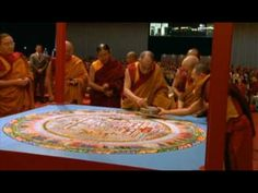 "Construction and destruction of a sand Mandala by the Dalai Lama, from Werner Herzog documentary ""Wheel of Time"""