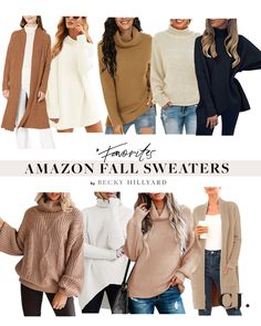 Amazon Fashion: Fall Finds Fall Sweaters, Sweater Coats, Trendy Outfits, Fall Outfits, Autumn Winter Fashion, Fashion Fall, Faux Leather Jackets, Fall Wardrobe, Style Guides