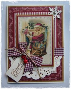 Christmas card by Cathy McGrath - Wendy Schultz ~ Christmas Cards & Tags.