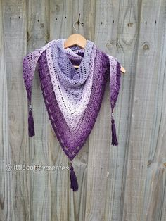 Lost In Time Shawl by Mijocrochet using Scheepjes Whirl Lavenderlicious colour