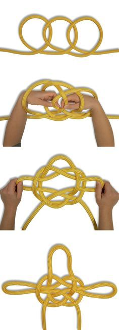 How to tie a Jury Mast Knot Jury Mast Knot was made as a temporary rigging knot. These days it's used as a decorative knot. In this HOW TO TIE KNOTS, learn how to tie a Jury Mast Knot Survival Knots, The Knot, Knot Braid, Rope Knots, Tying Knots, Rope Art, Fishing Knots, Paracord Projects, Tips & Tricks