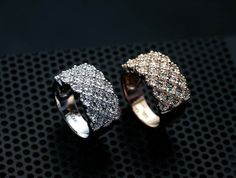 YR020 FullyJewelled Ring 18K Rose Gold Plated by BlueroseFashion, €6.50