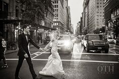 Brides: New York City Real Wedding Photos: A Chic, Minimalistic Wedding at Manhattan Penthouse