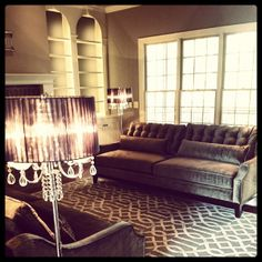 @Design Defined Interiors shows off a stunning space with our Harrison Sofa & Trellis Rug.