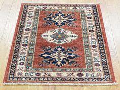"Buy 2'3""x2'10"" Handmade Super Kazak Pure Wool Tribal Design Red Oriental Rug  #homedecor #decor #woolrug #rugrestoration #rugpadding #orientalrugs #interior"