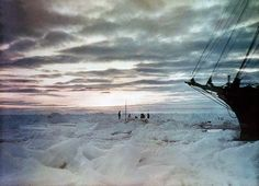 """sagansense: """" humanoidhistory: """" Early color photographs of Antarctica, circa by Australian adventurer Frank Hurley during the legendary Imperial Trans-Antarctic Expedition led by Ernest. South Georgia Island, Heroic Age, Centenario, Antarctica, Color Photography, Film Photography, Hurley, Continents, Photo Galleries"""