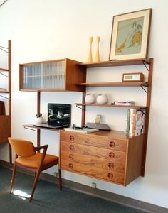 decorate-office-desk-ideas-29-awesome-and-functional-mid-century-wall-units-digsdigs-wood.jpg 736×936 pixels