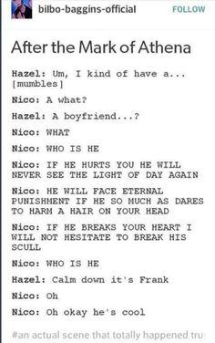 'Oh ok he's cool' Lol Nico