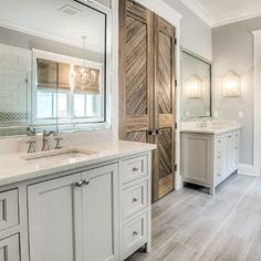 Exactly what I was thinking for master bath sink/ closet entry. didn't plan on a door, but I like this idea.