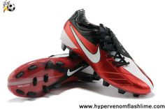 New Nike Total90 Laser IV FG Challenge Red White-Anthracite Soccer Shoes For Sale