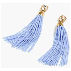 J.Crew Beaded Tassel Earrings (305 RON) ❤ liked on Polyvore featuring jewelry, earrings, tassle earrings, beaded earrings, tassel earrings, beading earrings and j crew jewelry