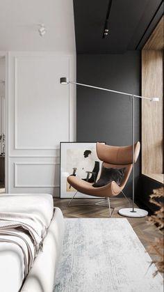 Contemporary Interior Design, Office Interior Design, Interior Design Living Room, Modern Interior, Living Room Designs, Home Bedroom, Modern Bedroom, Bedroom Decor, Living Comedor