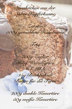 Wer schon einmal in der Kupferkanne auf Sylt war,   der wird bestätigen können, dass die Kuchen dort   zum Niederknien sind.   Nicht ...