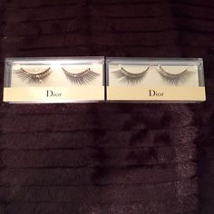 Dior Grand Bal False Lashes #002 New. Never been taken out of box. Comes with blue. Has gold studs. Price is for each. If interested let me know so I can create a listing for you with 1. Dior Makeup False Eyelashes