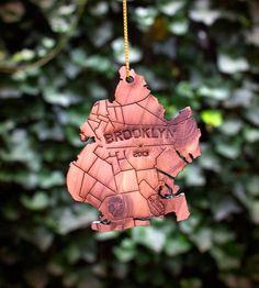 Brooklyn Wood Holiday Ornament