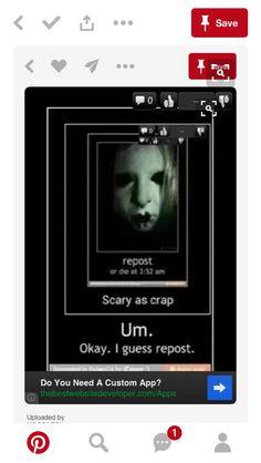 Umm scary as crap? Repost I guess?