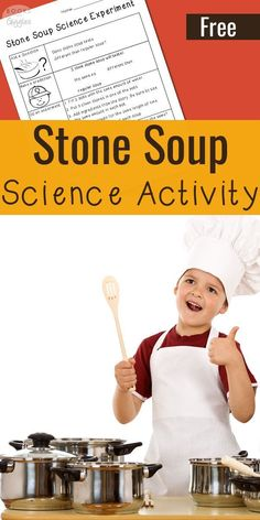 Stone Soup science activity - a story extension for the classic folktale. This would make a good winter time science experiment on mixtures versus solutions.