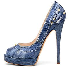 Disguise yourself with some denim shoes and see how they integrate with your denim outfit.