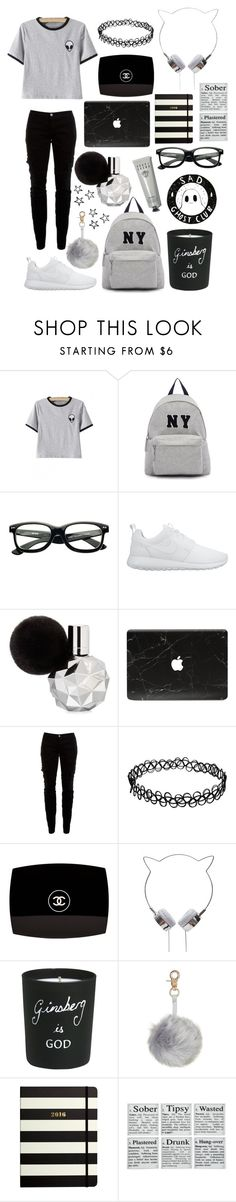 """""""Untitled #54"""" by adaarutunova on Polyvore featuring Joshua's, NIKE, Joie, Chanel, Bella Freud, Kate Spade, Bobbi Brown Cosmetics, women's clothing, women's fashion and women"""