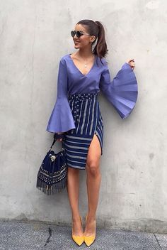 Summer's best looks are as easy as they are stylish. Enjoy our 20 Stylish Wrap Skirts outfits to rock this summer. Look Fashion, Trendy Fashion, Fashion Outfits, Womens Fashion, Fashion Trends, Look Camila Coelho, Mode Top, Street Style, Looks Style
