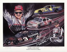 AUTOGRAPHED 1998 Dale Earnhardt Sr. #3 GOING FOR EIGHT (Gale Osborne) 9X11 Print (#0834/1998) by Trackside Autographs. $299.95. For your viewing pleasure: *AUTOGRAPHED* 1998 Dale Earnhardt Sr. #3 GOING FOR EIGHT (Gale Osborne) 9X11 Print (#0834/1998). This vintage print was hand-signed by Dale Sr. through a well-respected member of Global Authentication. You will receive a Certificate of Authenticity (COA) with your purchase, and we also offer a 100% life-time guar...