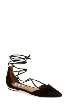 Free shipping and returns on Steve Madden 'Sunshine' Lace-Up Flat (Women) at Nordstrom.com. Gleaming hardware at the heel elevates a streamlined lace-up flat in a chic, d'Orsay silhouette with a pointed toe.