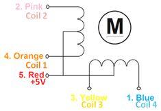 Stepper motor coil diagram