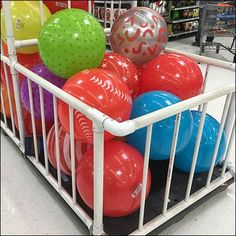 This massive Custom PVC Bulk Bin Tower for Beach Balls is a retailer do-it-yourself project. Ball Storage, Beach Ball, Do It Yourself Projects, Balls, Tower, Seasons, Diy, Dreams, Rook