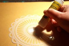 Tutorial – Stencil + Glue Stick | froth from the daisy patch