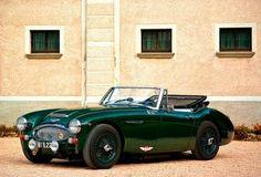 forest green vintage sports car