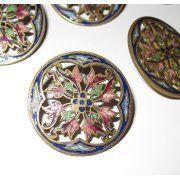 Cloisonne' buttons....love these