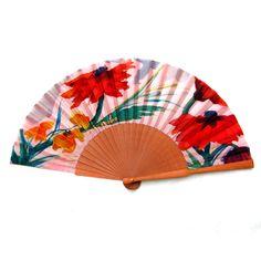 Hand Fan, Painted Silk, Hand Fans, Accessories, Clothing, Fan