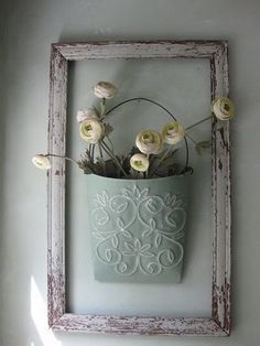 Outstanding DIY Shabby Chic Decorating Framed Flower Bucket The post DIY Shabby Chic Decorating Framed Flower Bucket… appeared first on Poll Decor .