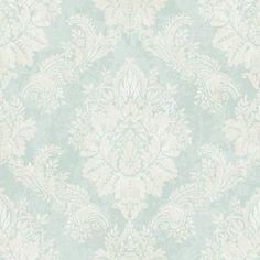 Rasch Bloomsbury Damask Pattern Floral Motif Metallic Wallpaper 204810