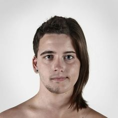 Genetic Portraits: Split Portraits of Family Members by Ulric Collette