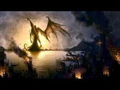 """It's well known that the great Cthulhu has a particular bond with artists of all sorts. Lovecraft's """"The Call of Cthulhu"""" it's docu. Hp Lovecraft, Lovecraft Cthulhu, Dark Fantasy, Fantasy Art, Call Of Cthulhu, Necronomicon Lovecraft, Dragons, Art Mur, Sunken City"""